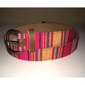 Accessories - Aztec Print Cotton Belt Large
